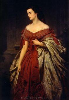 Portrait of Helene von Thurn und Taxis sister of Empress Elizabeth.