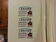 Refrigerator reality magnetic signs. By Fireblade Graphics