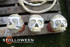 Skull tutorial for halloween, one of the greatest paper mâché artists of all time!!