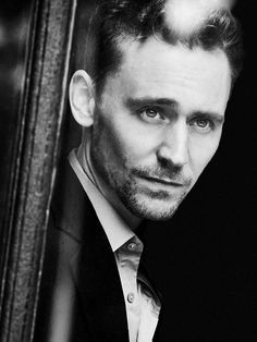 Tom Hiddleston. Black and White makes everyone look good, but this is ridiculousness.