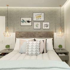 """612 curtidas, 18 comentários - Interiores e Arquitetura (@criarinteriores) no Instagram: """"Bom dia! Com esse quarto, falem se não da vontade de nem levantar da cama! #criarinteriores…"""""""