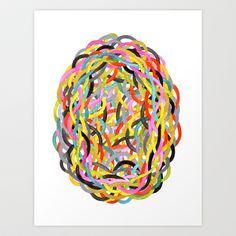 Color Tangle Art Print in my Society6 shop - cheryl sorg