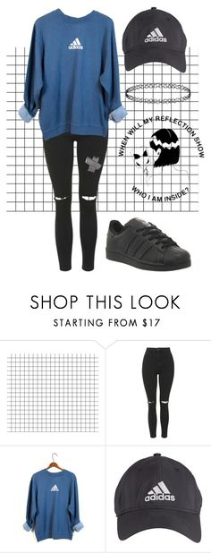 """""""this has been in my drafts for two years"""" by thishazyheadofmine on Polyvore featuring Topshop and adidas"""