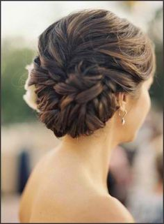 Elegant Bun. Will look best with an off-shoulder dress.