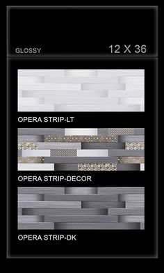 What makes a successful tile series? A look at the breathtakingly beautiful Opera Strip series is enough to arouse your inspiration.  #Opera Strip - Millennium #Tiles 300x900mm (12x36) Digital Ceramic OCT Glossy Large Format Wall Tiles - Opera Strip LT - Opera Strip #Decor - Opera Strip DK  #interiordesign #walldecor