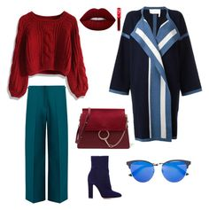 Cold colors set by liskirs-1 on Polyvore featuring polyvore, fashion, style, Chicwish, Chloé, Maison Margiela, Gianvito Rossi, Gucci, Lime Crime and clothing