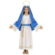 Disfraz de Virgen Maria para Niña. Especial Navidad http://www.disfracessimon.com/disfraces-navidad-ninos/3989-disfraz-virgen-maria-nina.html