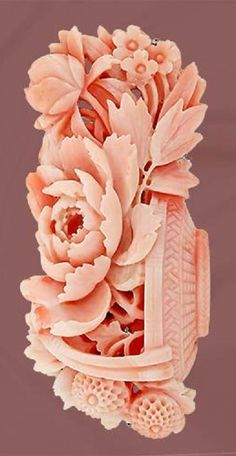 Exquisite Victorian Carved Coral