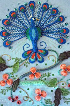http://www.kathleenlaurelsage.com/images/stump-work/peacock.jpg