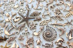 Wholesale 100+ Piece of Various Ocean Charms seahorse Starfish, fish, dolphins, turtle/etsy