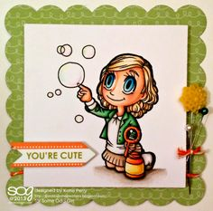 Kards by Katie Kreations using Bubbles Tia digital stamp by Some Odd Girl. #digitalstamp #someoddgirlTia #someoddgirl www.someoddgirl.com