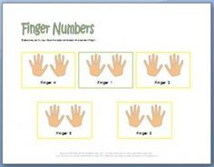 Free Printable Piano Worksheets! This one helps kids learn their finger numbers.