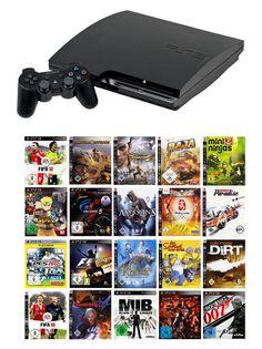 Playstation 3 Slim 120 GB Komplettbundle inkl. 3 Spiele - PS3