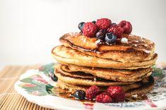 Healthy Polenta Pancakes | Slender Kitchen 3 pancakes- 6 points