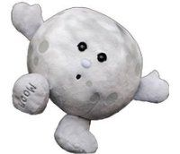 Stuffed Planet Plush - Celestial Buddies - Moon