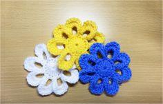 かぎ編みの花のモチーフ 9 : かぎ編みの基本 How to Crochet Flower Motif