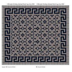 1000 images about alfombras miniatura en punto de cruz on - Alfombras para casas ...