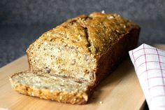 crackly banana bread by smitten kitchen. It was delicious without the millet, though I will try that next time. Healthy too-- ww flour, coconut oil, and maple syrup replace the usual junk.
