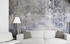 A wallpaper reminding of the ancient Roman Baths and bringing the atmosphere of those places back to life in your home. Brick In The Wall, Wallpaper Wall, Modern Wallpaper, Home Wall Painting, Venetian Plaster Walls, Distressed Walls, Cool Walls, Textured Walls, Interior Design Kitchen