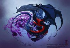 Imagine super heróis se transformado em dragões - Nightcrawler Dragon