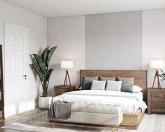 Browse Bedroom designs and interior decorating ideas. Discover beautiful designs and inspiration from a variety of Bedrooms designed by Havenly's talented online interior designers. Master Bedroom Interior, Room Design Bedroom, Room Ideas Bedroom, Home Decor Bedroom, Zen Master Bedroom, Mid Century Modern Master Bedroom, Bedroom Designs, Minimal Bedroom Design, Modern Minimalist Bedroom