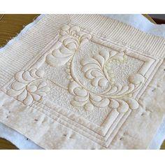 Топ для будущей подушечки, по моему онлайн мк (трапунто) сшила Ирина @puliechka . Дизайн Ирины.