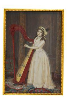 German School, circa Portrait of a Lady. Art Storage, Disney Images, Bond Street, Harp, View Image, Impressionist, Modern Art, German, Auction