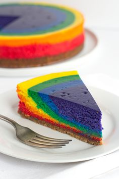 Rainbow Cheesecake via @mmmirnanda