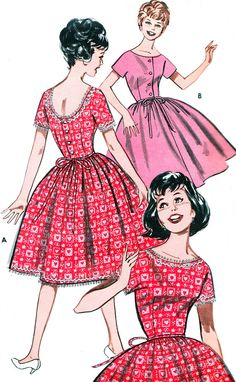 1960s Dress Pattern Butterick 9415