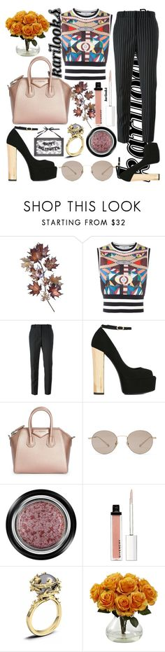 """""""Happy H.Autumn"""" by karilooks ❤ liked on Polyvore featuring C. Jeré, Givenchy, Giuseppe Zanotti, Gucci, Giorgio Armani and Kasun"""
