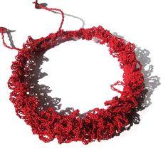 Christine KEYEUX (BE) -  Collier Dentelle - papier filé crocheté   2012