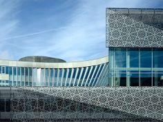 Nieuwegein, Netherlands  Stadshuis Nieuwegein  New City Hall and cultural center in Nieuwegein  3XN