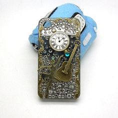 Handmade hard case for iPhone 4 4S & 5 Bling Retro by CheersCases, $29.99