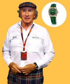 Racing legend Sir Jackie Steward sports a throwback timepiece, the Rolex Day Date 36, at the F1 Grand Prix in Singapore.