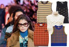 Den 70'er-inspirerede strikvest er tilbage, og tendensen er alt andet end støvet. Shop sæsonens bedste bud på den strikkede vest Vest, Isabel Marant, Cross Body, Catwalk, Chloe, Zara, Costumes, Jackets, Shopping