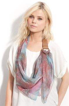 infinity scarf with faux-leather buckle - so unique!