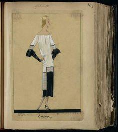 Robe Sphinx, Paris 1924, copyright Patrimoine Lanvin #JeanneLanvin #Lanvin