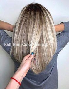 Trending Herbst Haarfarbe Ideen Trending Fall Hair Co . Red Blonde Hair, Balayage Hair Blonde, Blonde Highlights, Brown Hair Colors, Fall Hair, Hair Dos, Hair Lengths, Hair Inspiration, Curly Hair Styles
