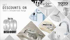 """Get upto 30% Discount on Toto`s Streamlined Range only on Falcon18, """"Toto Building Material & Interior Product"""""""