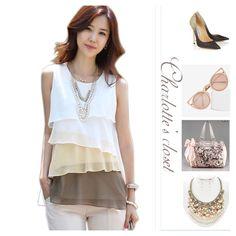 Multi Layered Chiffon sleeveless Top Multi-layered Women Top/  Summer Sleeveless Vest Chiffon Top Tops Blouses