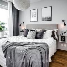 Top 10 Interior Design Bedroom Grey Walls Top 10 Interior Design Bedroom Grey Wa Top 10 Interior Design Bedroom Grey Walls Top 10 Interior Design Bedroom Grey Wa The decoration of the house is like an . Gray Bedroom Walls, White Bedroom, Grey Walls, Dream Bedroom, Modern Bedroom, Cozy Bedroom, Bedroom Bed, Light Gray Bedroom, Bedroom Brown