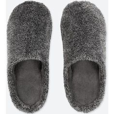 UNIQLO Slippers ($15) ❤ liked on Polyvore featuring men's fashion, men's shoes, men's slippers, shoes, dark gray and uniqlo #MensSlippers