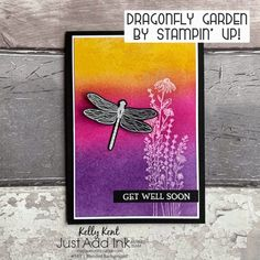 Just Add Ink #541 | Blended Background – kelly kent Get Well Cards, Ink Pads, My Stamp, Have Some Fun, Daffodils, Diy Cards, Cardmaking, Card Stock, Stampin Up