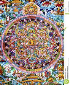 Mandala beautiful historic Tibetian