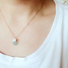 《新作入荷のお知らせ》本日(6日)20時より >>Sea Blue Chalcedony Flower Necklace