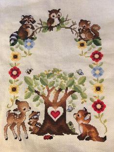 Joy Sunday Stamped Cross Stitch Kits Cross-Stitch Pattern Elephant and owl with DMC Threads DIY Embroidery Kit 15x15