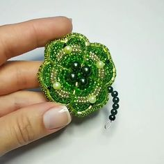beaded flower kit DIY brooch bead embroidery KIT Forget-me-not beaded brooch kit Handmade Jewelry Forget-me-not brooch kit