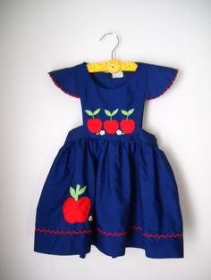 Vintage girl's dress pinafore