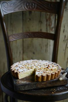 Torta della Nonna - Italian 'Grandma's cake' with lemon custard and pine nuts
