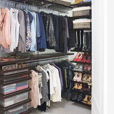 The Container Store Closet Systems Alluring Walnut Elfa Décor Men's Reachin Closet  Home Office  Pinterest Design Decoration